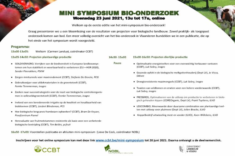 Webinar 'Mini Symposium Bio-onderzoek'