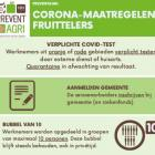 Coronaveilig fruit plukken met seizoensarbeiders
